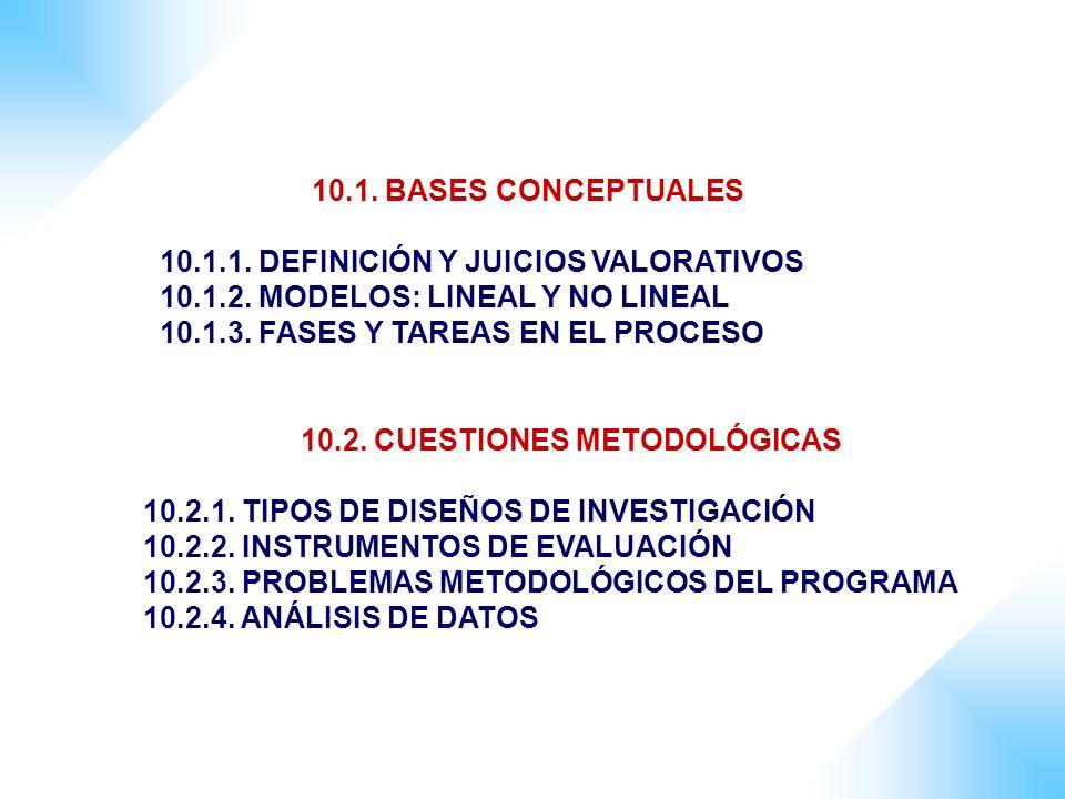 10.2. CUESTIONES METODOLÓGICAS