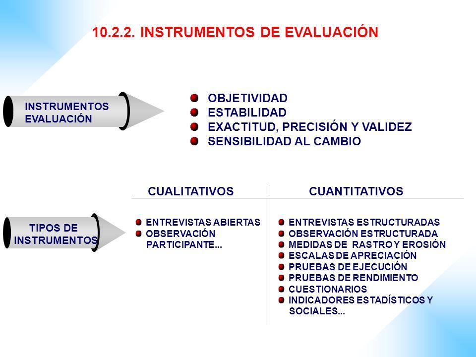 10.2.2. INSTRUMENTOS DE EVALUACIÓN
