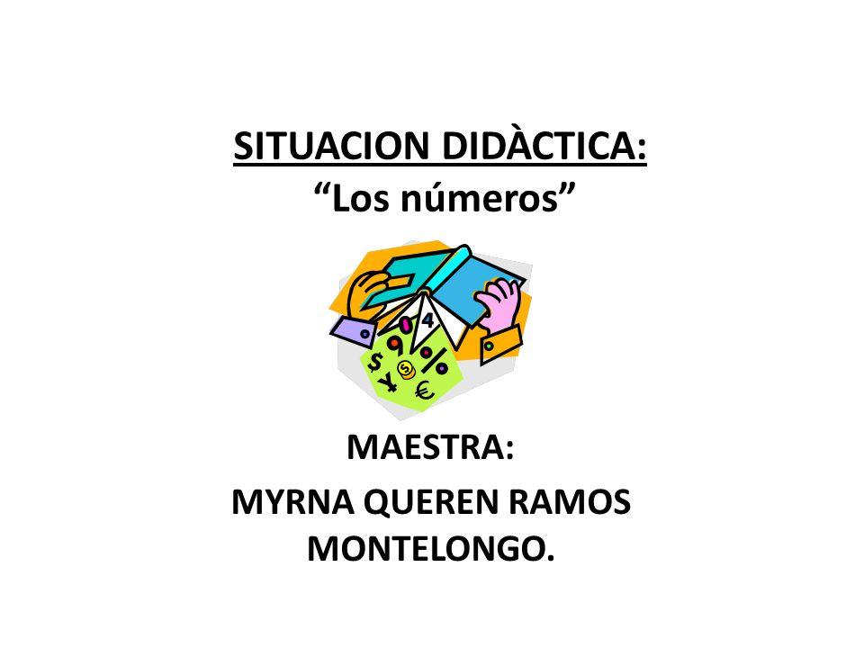 SITUACION DIDÀCTICA: Los números