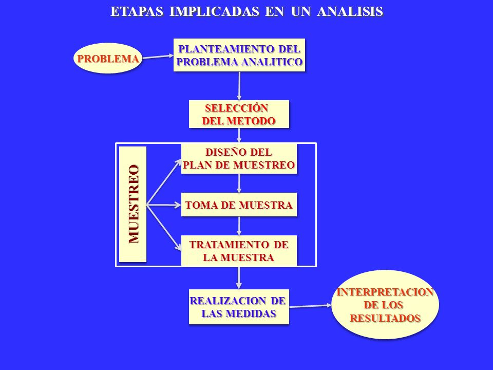 ETAPAS IMPLICADAS EN UN ANALISIS