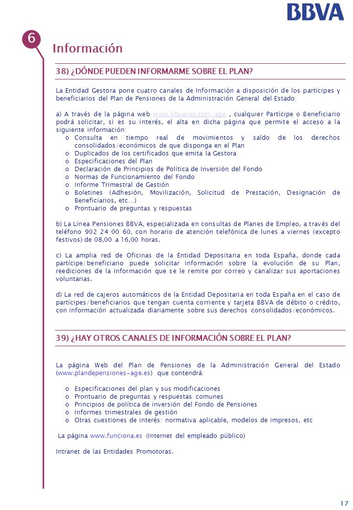 Enero 2008 grupo bbva prontuario de preguntas y respuestas - Horario oficinas bbva madrid ...