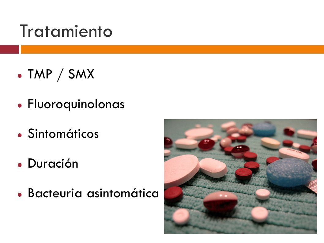 Tratamiento TMP / SMX Fluoroquinolonas Sintomáticos Duración