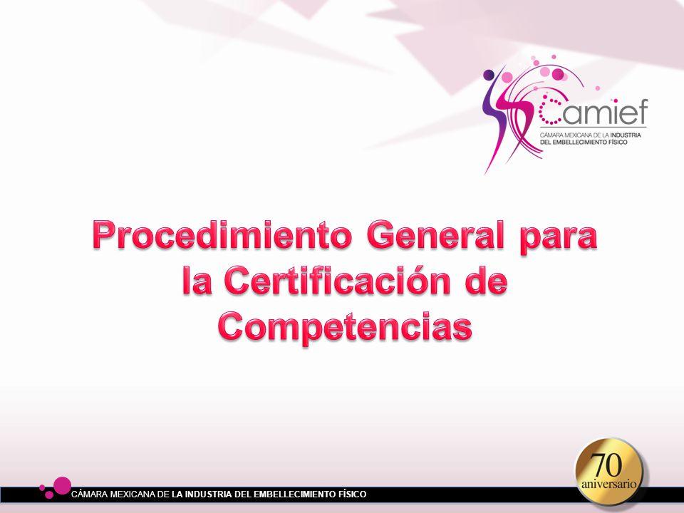 Procedimiento General para la Certificación de Competencias