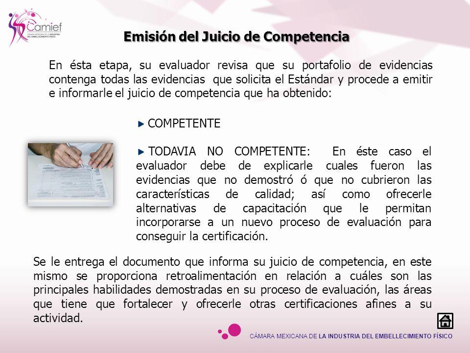 Emisión del Juicio de Competencia