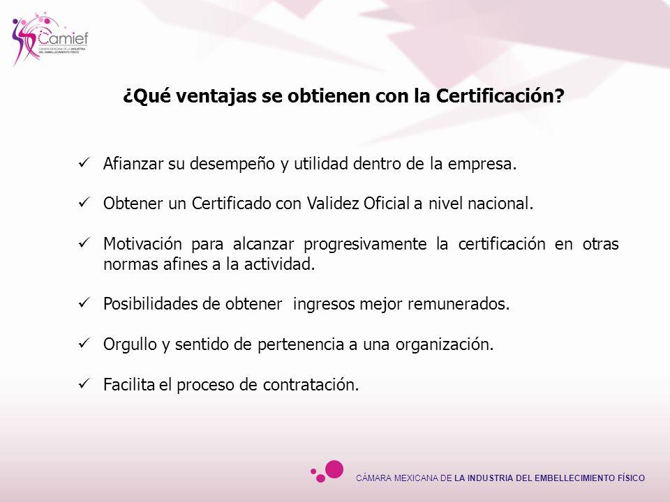 ¿Qué ventajas se obtienen con la Certificación