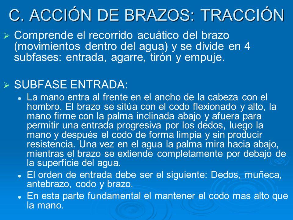 C. ACCIÓN DE BRAZOS: TRACCIÓN