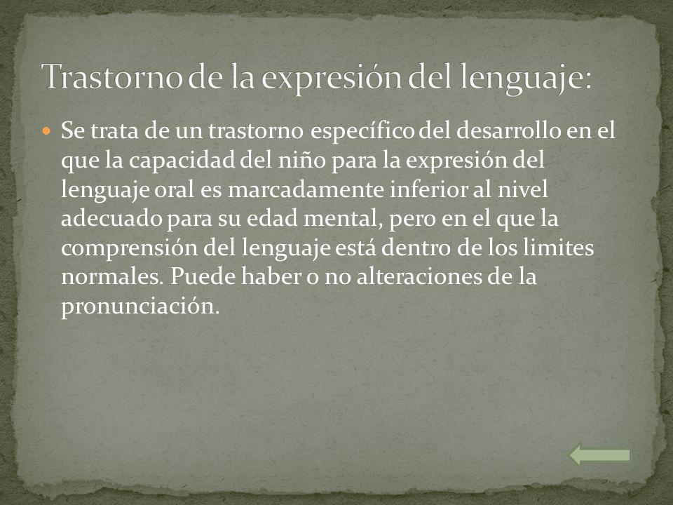 Trastorno de la expresión del lenguaje: