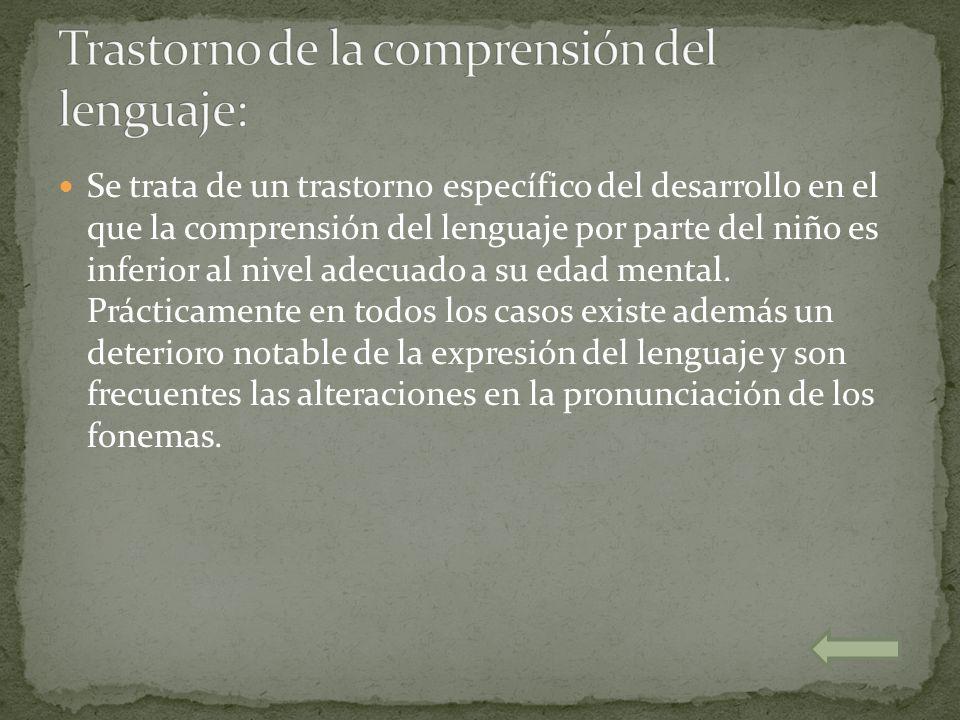 Trastorno de la comprensión del lenguaje: