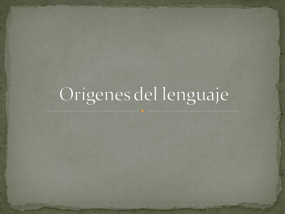 Orígenes del lenguaje