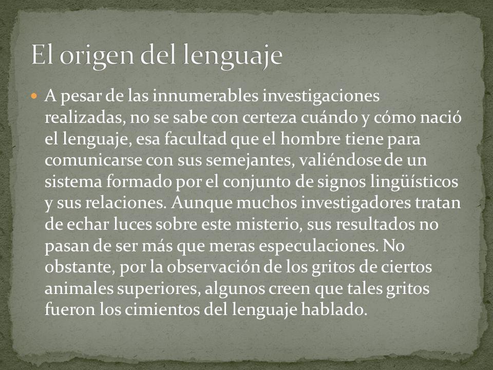 El origen del lenguaje