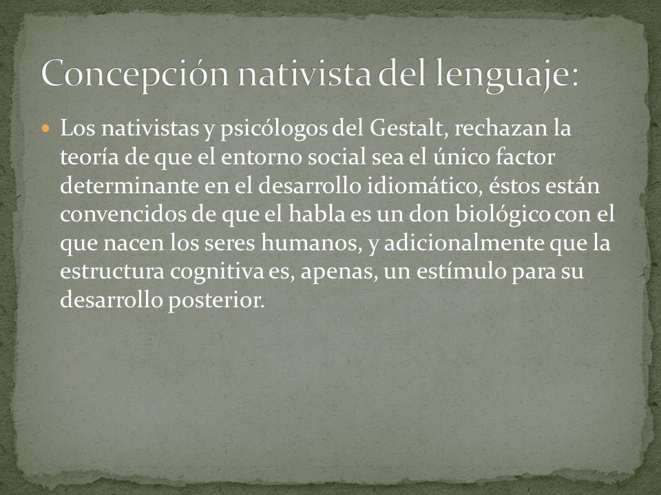 Concepción nativista del lenguaje: