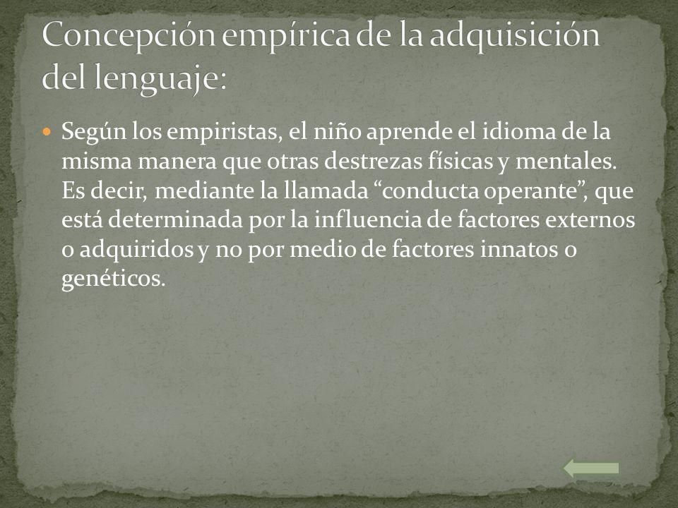 Concepción empírica de la adquisición del lenguaje: