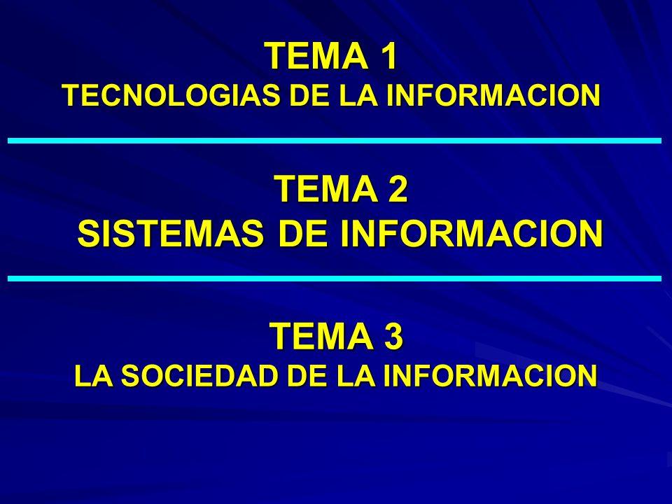 TEMA 1 TECNOLOGIAS DE LA INFORMACION