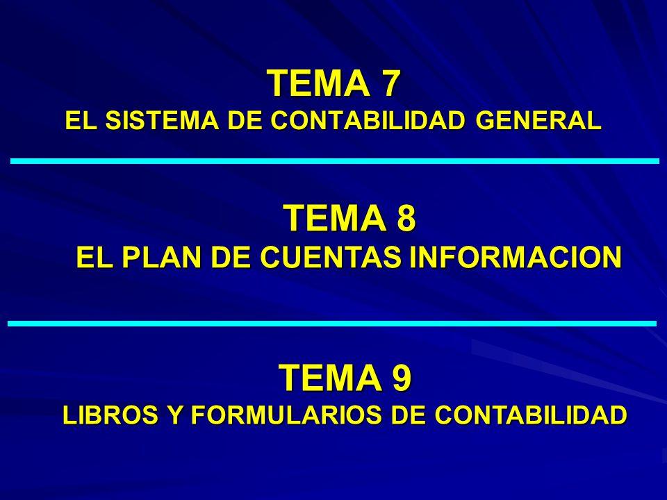 TEMA 7 EL SISTEMA DE CONTABILIDAD GENERAL