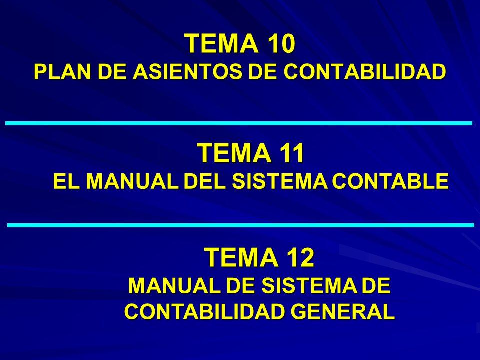 TEMA 10 PLAN DE ASIENTOS DE CONTABILIDAD