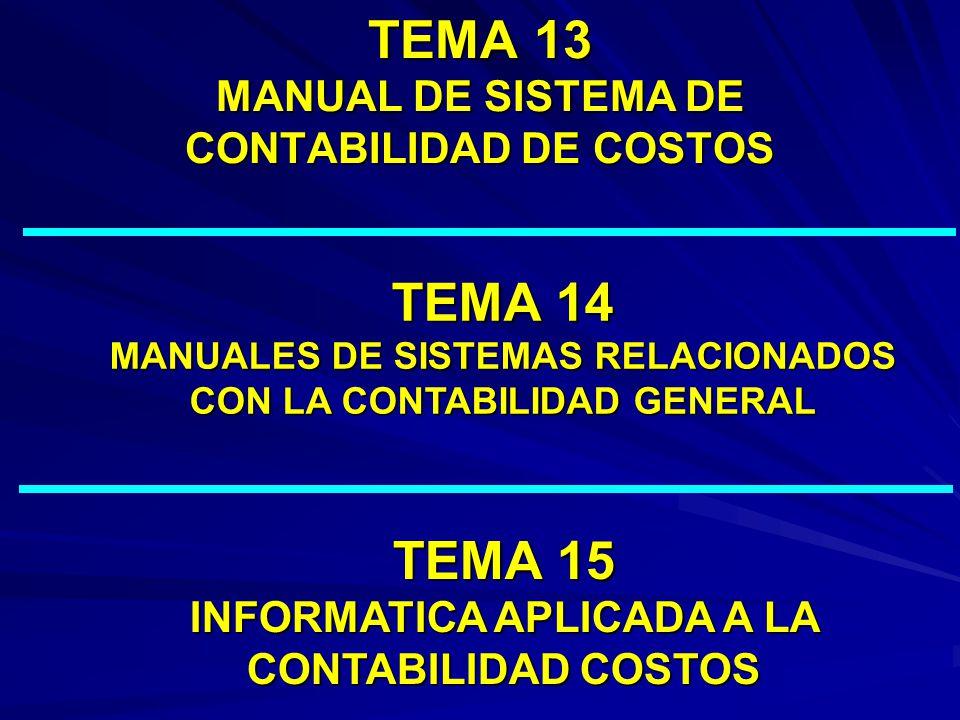 TEMA 13 MANUAL DE SISTEMA DE CONTABILIDAD DE COSTOS