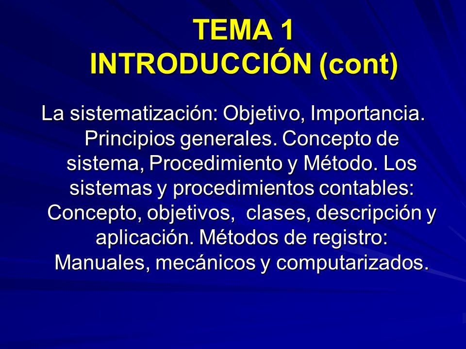 TEMA 1 INTRODUCCIÓN (cont)