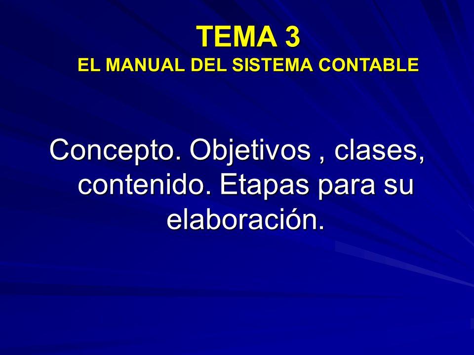 TEMA 3 EL MANUAL DEL SISTEMA CONTABLE
