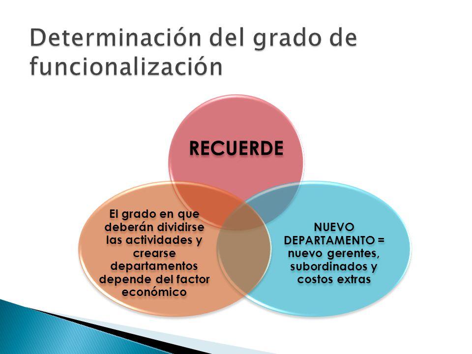 Determinación del grado de funcionalización