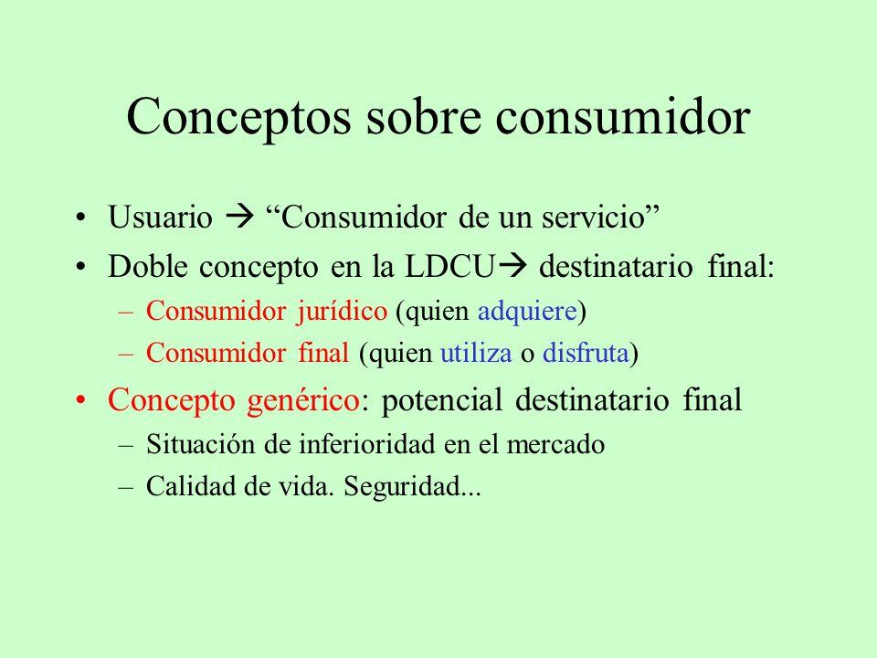 Conceptos sobre consumidor