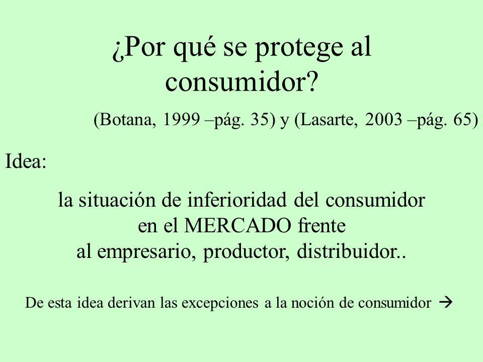¿Por qué se protege al consumidor
