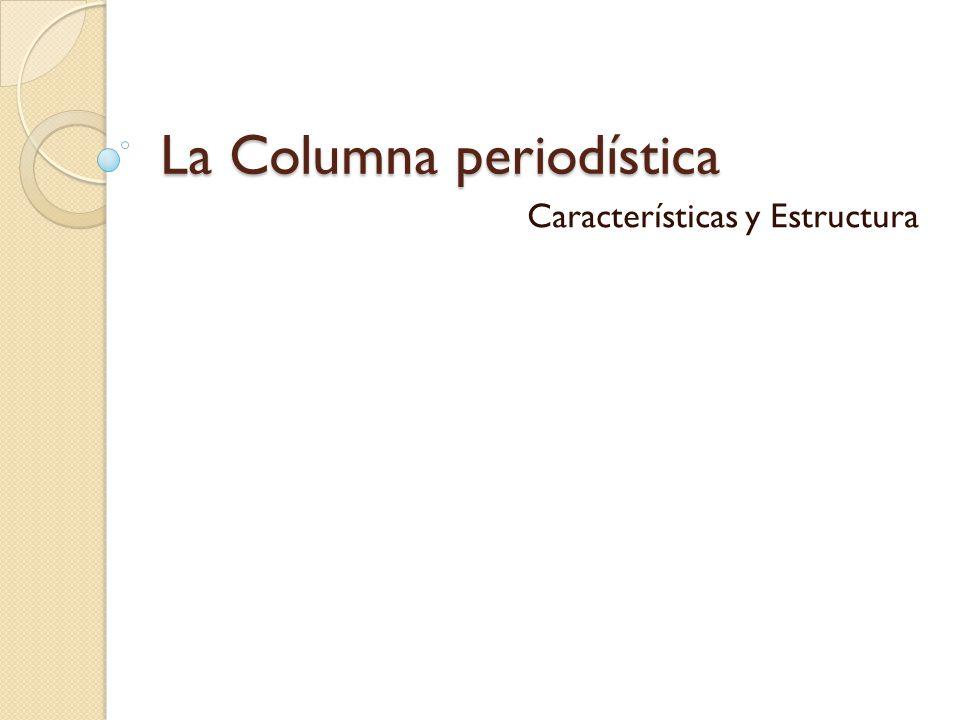 La Columna periodística