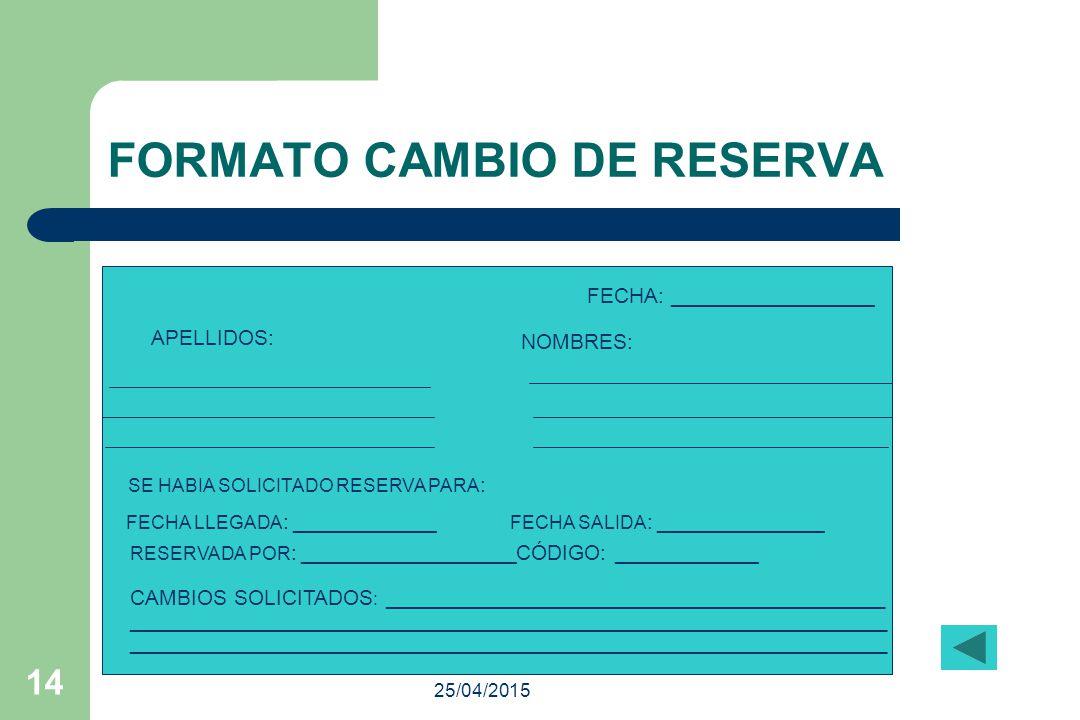 FORMATO CAMBIO DE RESERVA