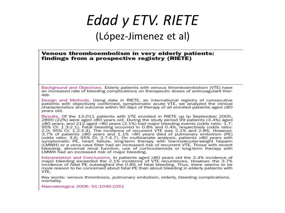 Edad y ETV. RIETE (López-Jimenez et al)