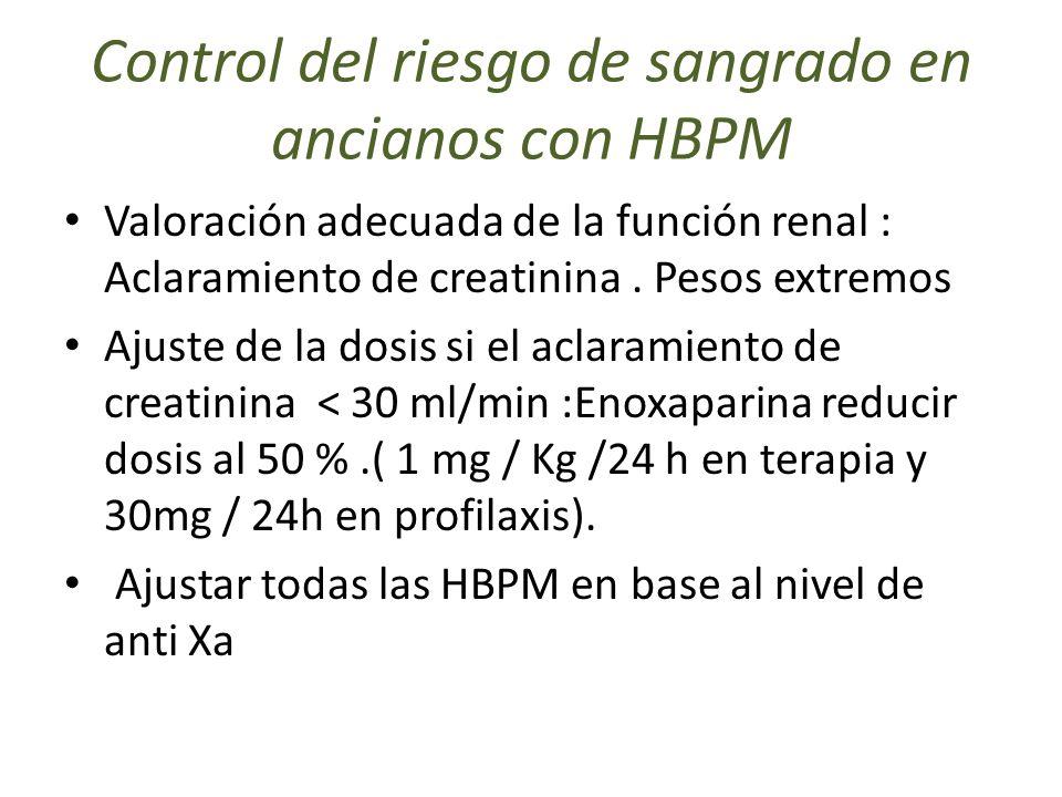 Control del riesgo de sangrado en ancianos con HBPM