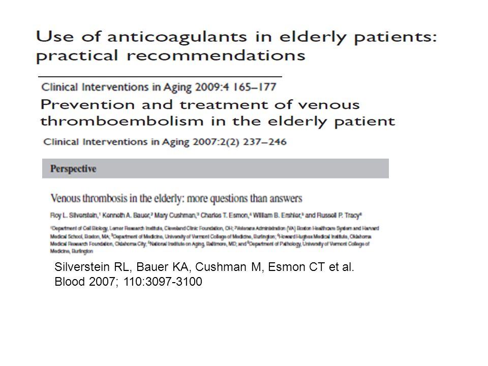 Silverstein RL, Bauer KA, Cushman M, Esmon CT et al.
