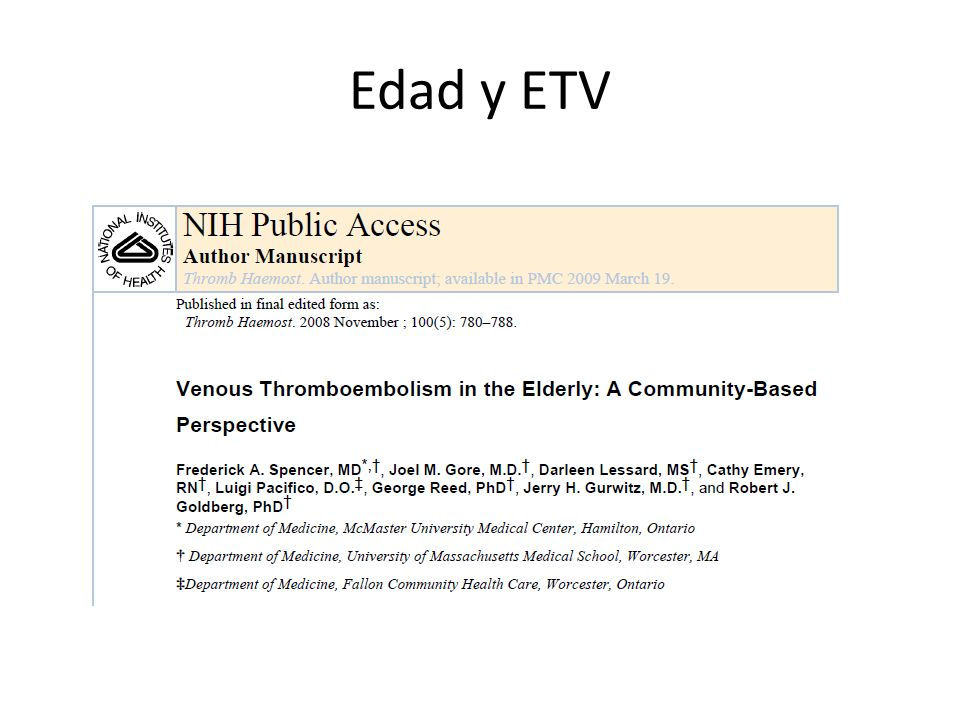 Edad y ETV