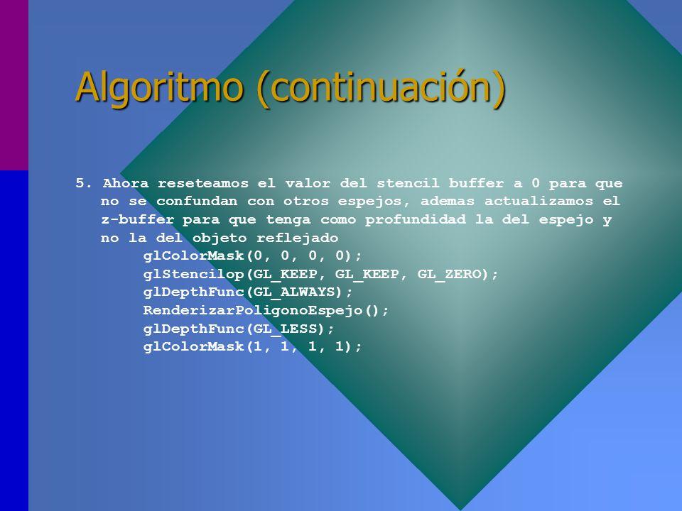 Algoritmo (continuación)