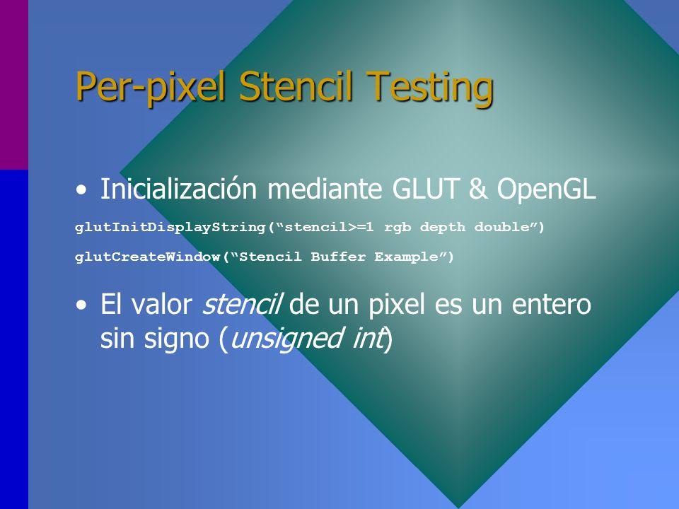 Per-pixel Stencil Testing