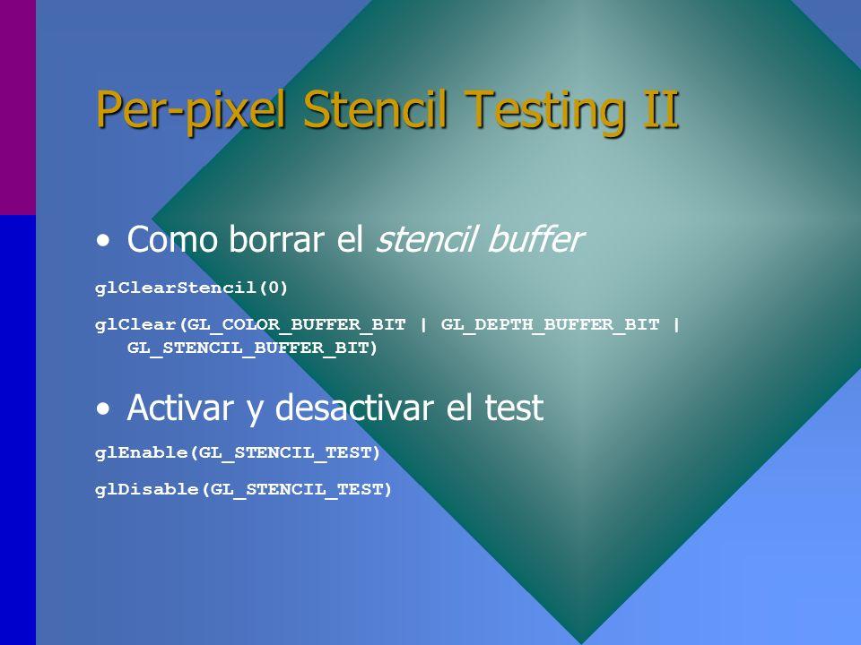 Per-pixel Stencil Testing II