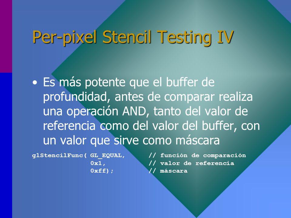 Per-pixel Stencil Testing IV