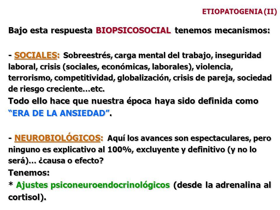 Bajo esta respuesta BIOPSICOSOCIAL tenemos mecanismos: