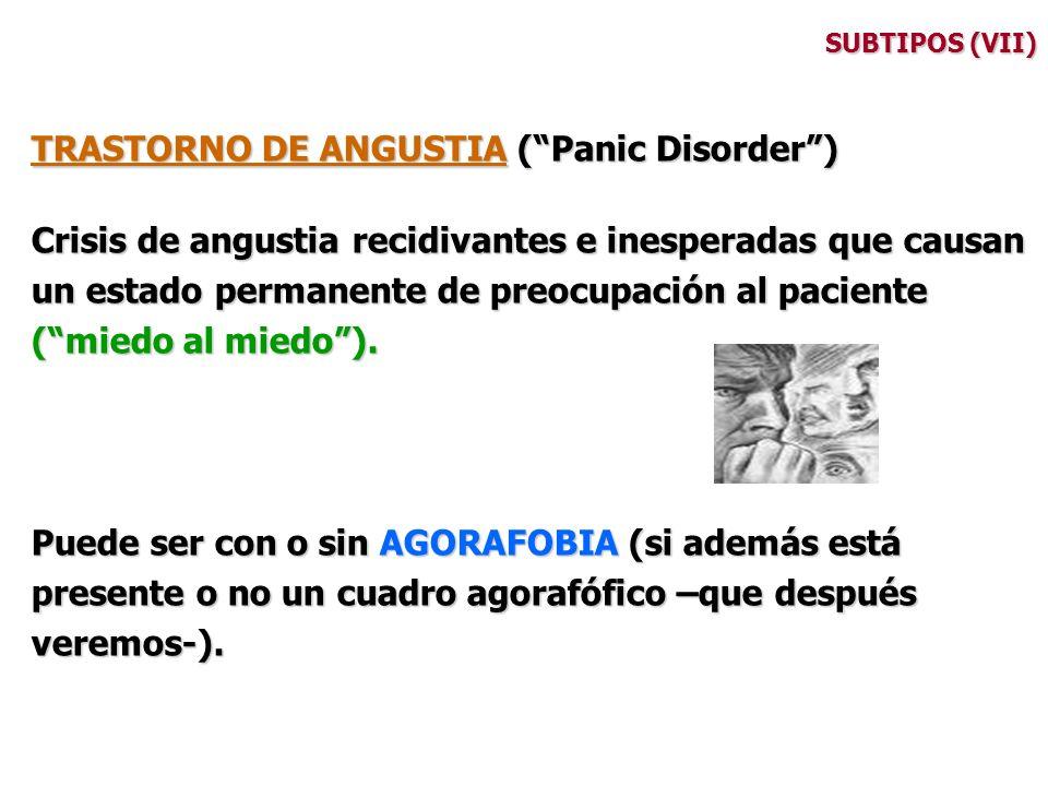 TRASTORNO DE ANGUSTIA ( Panic Disorder )