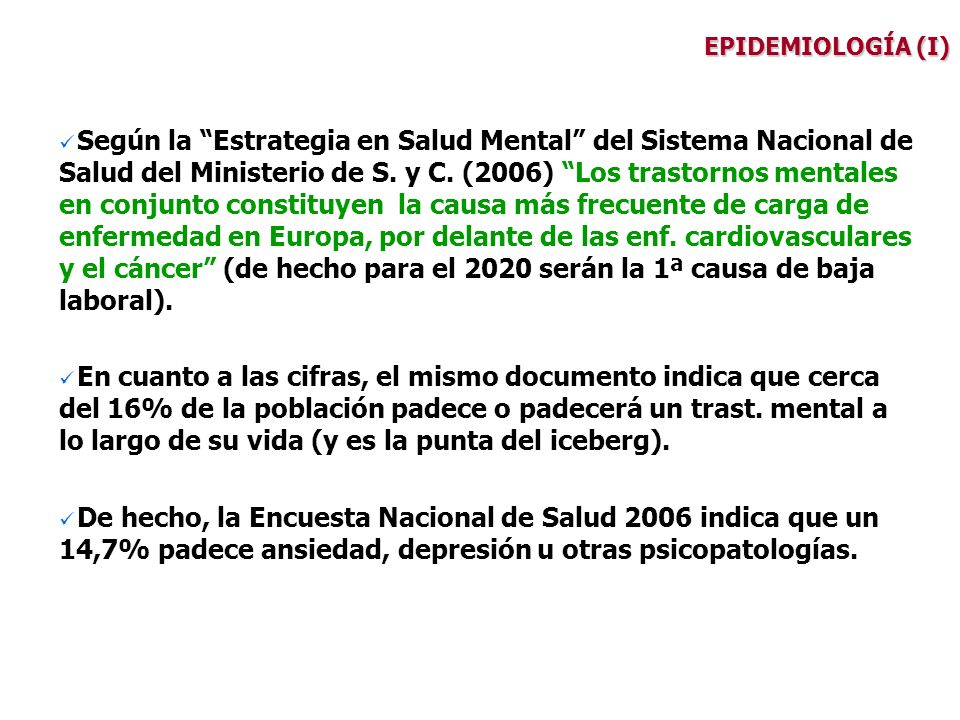 EPIDEMIOLOGÍA (I)