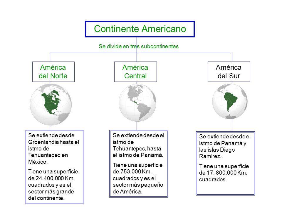 Se divide en tres subcontinentes