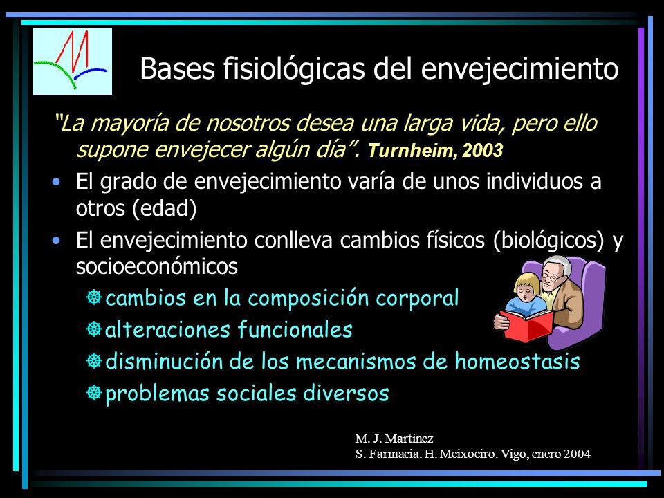 Bases fisiológicas del envejecimiento