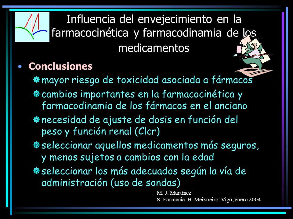 Influencia del envejecimiento en la farmacocinética y farmacodinamia de los medicamentos