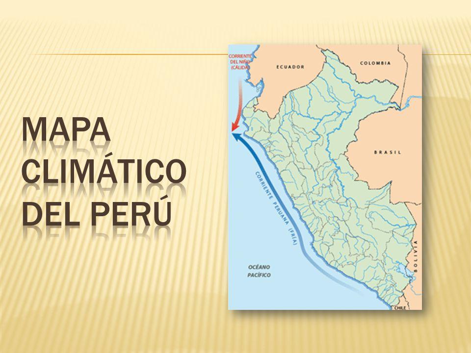 Mapa climático del Perú