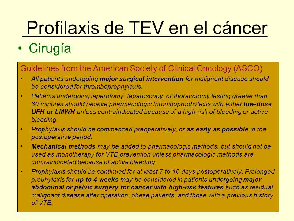 Profilaxis de TEV en el cáncer