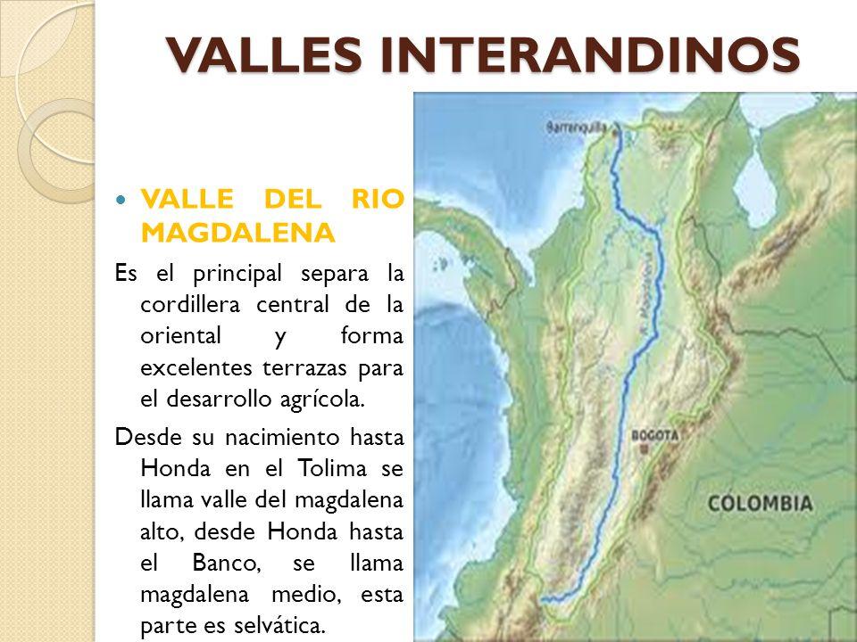 VALLES INTERANDINOS VALLE DEL RIO MAGDALENA