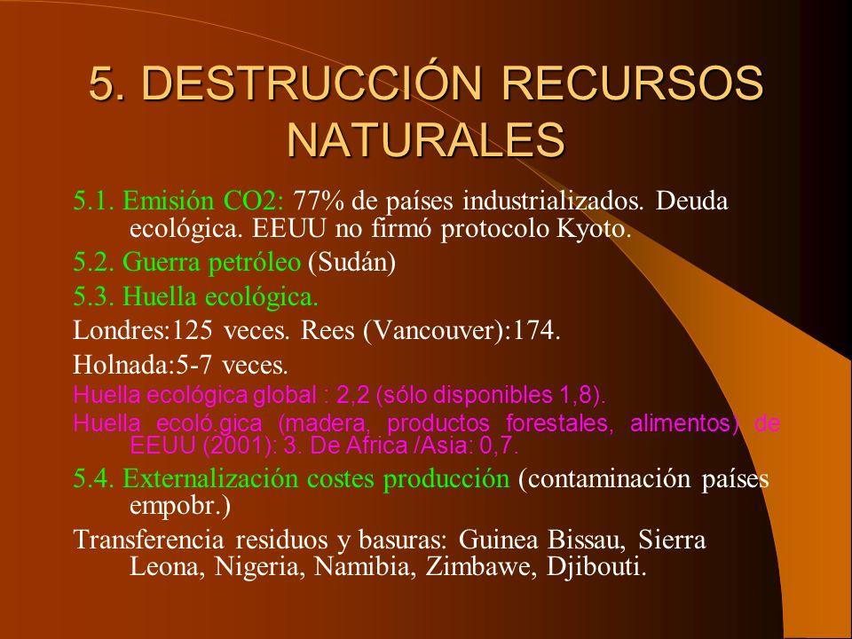 5. DESTRUCCIÓN RECURSOS NATURALES