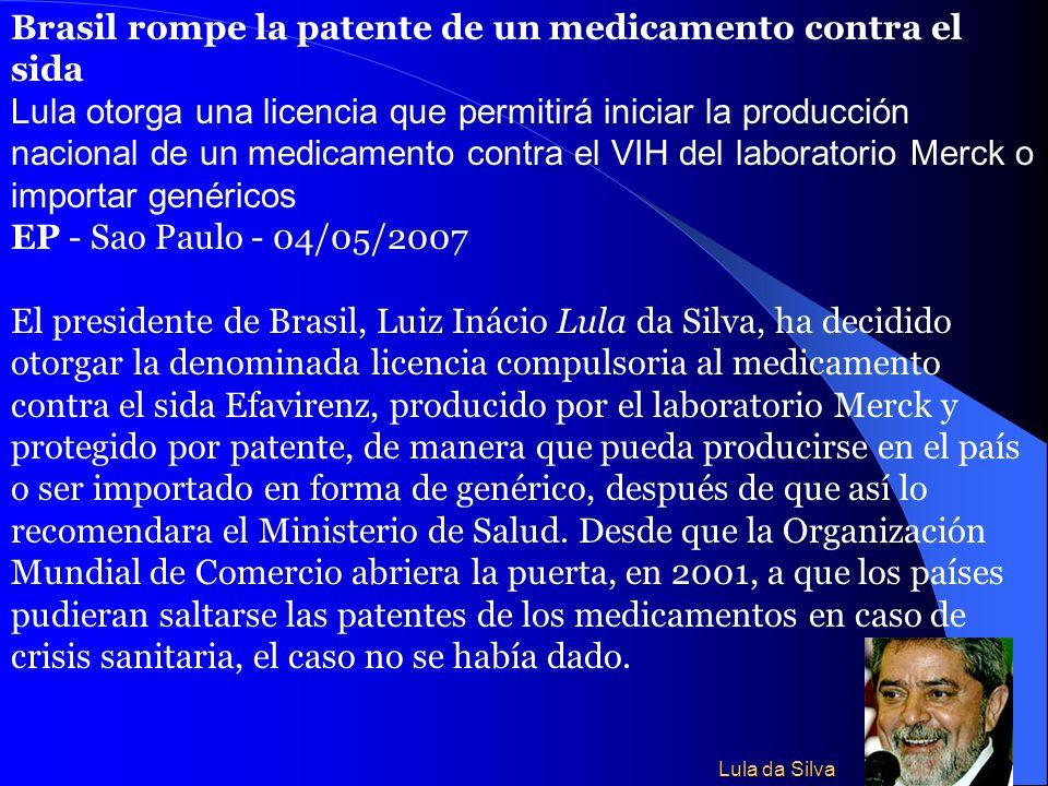 Brasil rompe la patente de un medicamento contra el sida