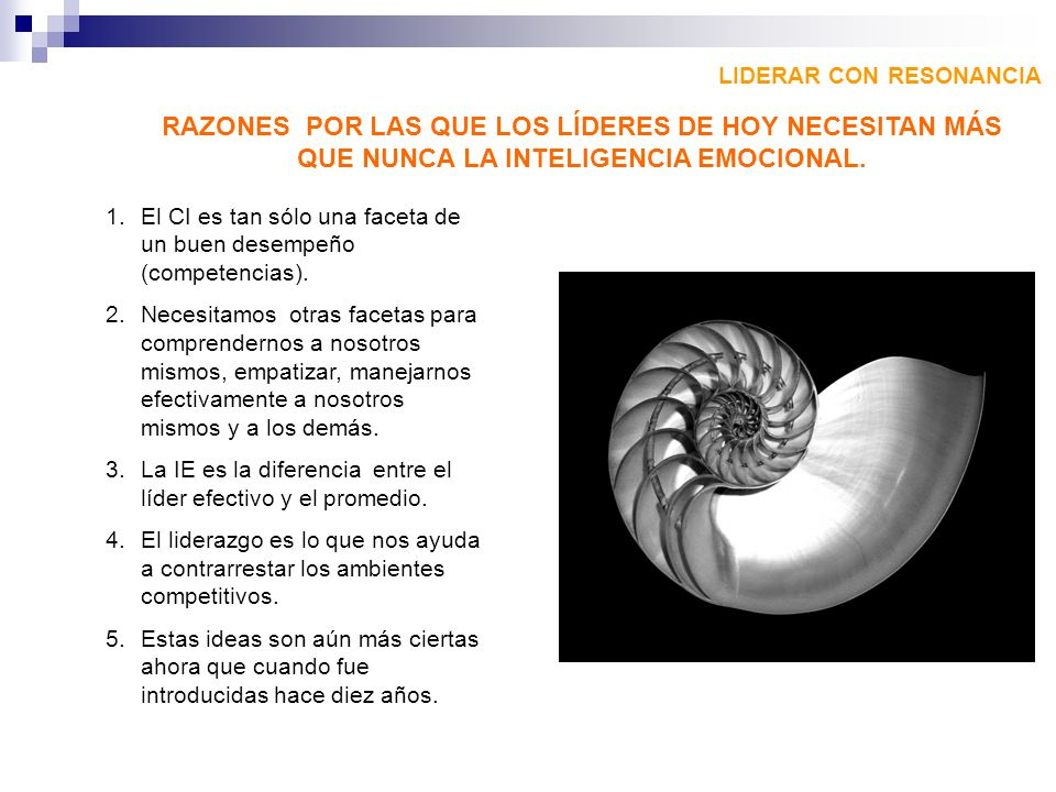 LIDERAR CON RESONANCIA