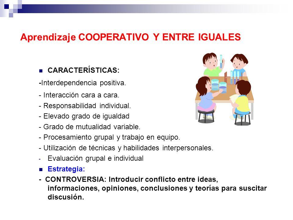 Aprendizaje COOPERATIVO Y ENTRE IGUALES