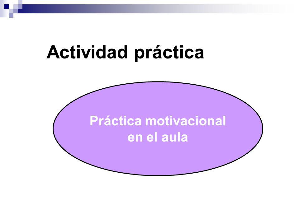 Práctica motivacional en el aula