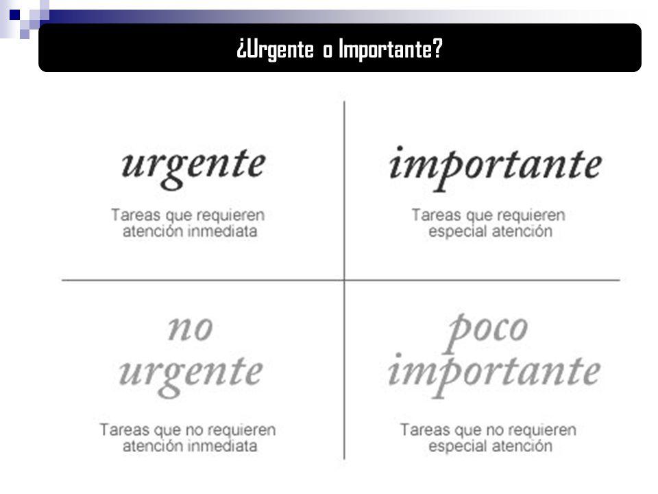 ¿Urgente o Importante